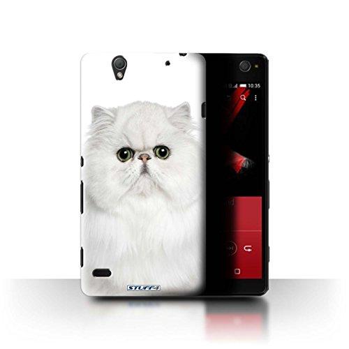 Custodia/Cover Rigide/Prottetiva STUFF4 stampata con il disegno Razze di gatti per Sony Xperia C4 - Bianco persiano
