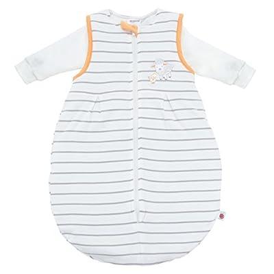 Todo el año–Saco de dormir para bebé 2piezas, manga larga–Rayas Beige Ovejas/2in1: Saco interior con mangas y gefüttertem Saco exterior