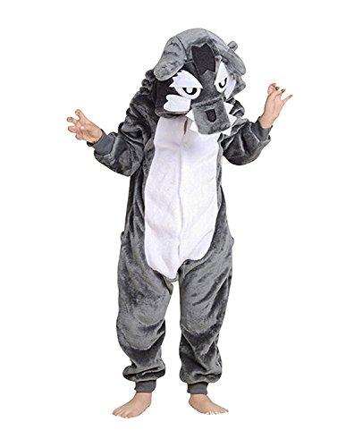 Tutina unisex onesies pigiama pigiameria sleepwear nightclothes cosplay costume animale felpato di carnevale- ragazzo bambina e bambino