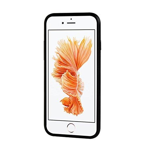 """MOONCASE iPhone 6/iPhone 6s Coque, Double Hybride Robuste Protection Housse Etui Couche d'Armure Lourde Case avec Béquille pour iPhone 6/iPhone 6s 4.7"""" Noir Noir"""