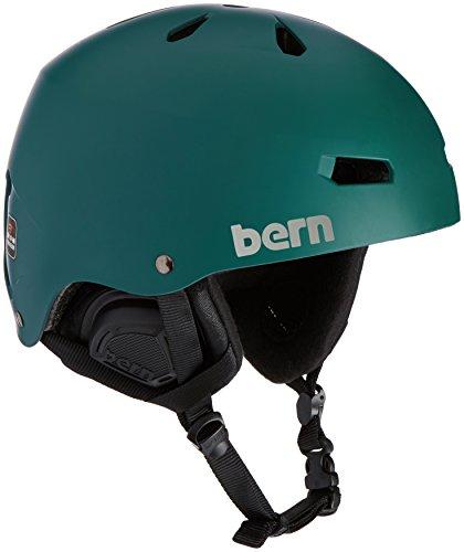 Bern Herren Helm Macon EPS Thin Shell matt grün, L/XL
