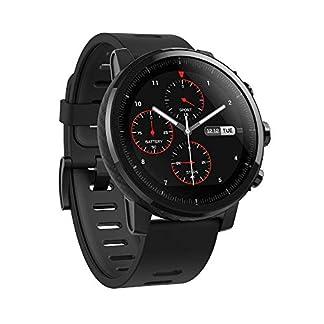 Amazfit Stratos Reloj Inteligente Multideporte con VO2max, frecuencia cardíaca y Seguimiento de Actividad, GPS, Resistencia al Agua de 5 ATM, música sin teléfono (A1619, Negro)