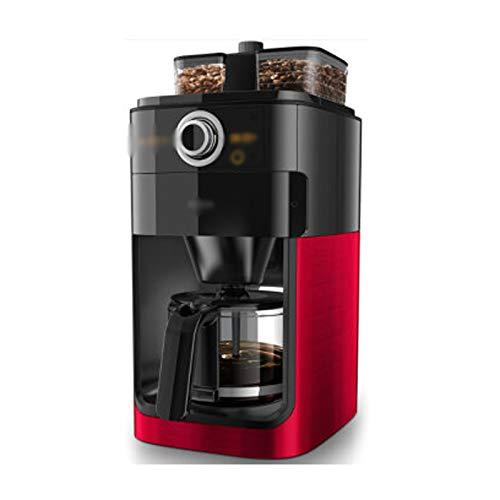 LJHA kafeiji Amerikanische Kaffeemaschine, Kaffeemaschine zu Hause, vollautomatische Kaffeemaschine, Doppel Bohnentrog, automatische Kaffeebohne Maschine, Kaffee Reservierung, EIN-Knopf-Bedienung, 21
