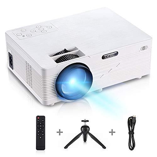 GBTIGER Full HD 2500 Lumens Proiettore Lavagna luminosa Proiettore LED video portatile Supporta 1080p compatibile Fire Stick TV, chiavetta USB, Smartphone, PC, Tablet, DVD, PS3 2018 Nuova versione
