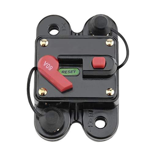 Heaviesk 50A 60A 80A 100A 125A 150A 200A 250A optionales Car Audio Inline-Leistungsschalter-Sicherung für 12V-Schutz SKCB 01 100A (Car-audio-sicherungen)