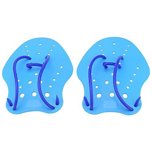 Dioche Hand Paddel, 1Paar/Set 3Größen Hand Training verstellbar Paddel Fin Wasser Sport Tauchen Schwimmen Web, S -