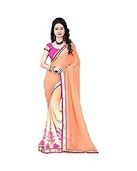 Airson Fab Orange Peding Designer Saree