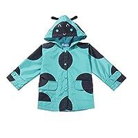 Girls Rain Coat Ladybird Style Size 2 3 4 5 6 7 8 Years Windproof Hooded Mac