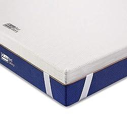 BedStory Komfortabler 7 Zonen Matratzentopper aus Kaltschaum (Größe 180 x 200 x 5 cm), orthopädischer Topper als Matratzenauflage für unbequeme Betten/Matratze/Boxspringbett