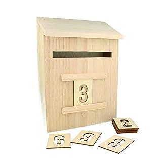 Artemio 14002293– Calendario de adviento para Decorar con números, Madera, 20x 9,5x 28cm