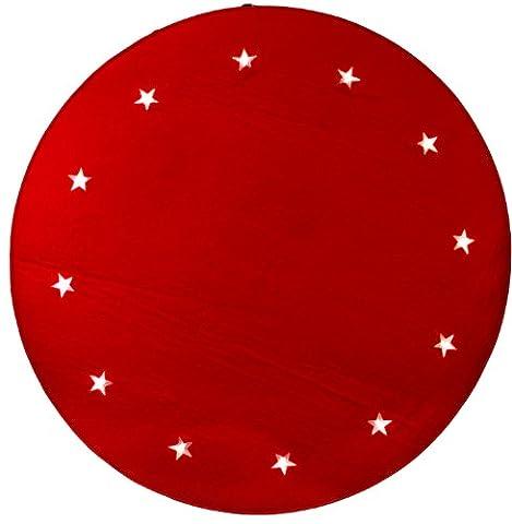 Best Season LED-Baumteppich Tree Rug, Material Filz, rot, circa 1 m Durchmesser 12 warm weiß LED, Trafo, indoor (Warm Weiß Led Weihnachten Tree)