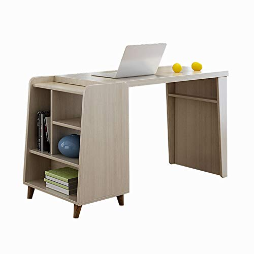 3 Regal Office Workstation (Folding table LVZAIXI Computer Desk 3 Etagen Regal Home Office Schreiben Studie Laptop Workstation Holzmöbel)