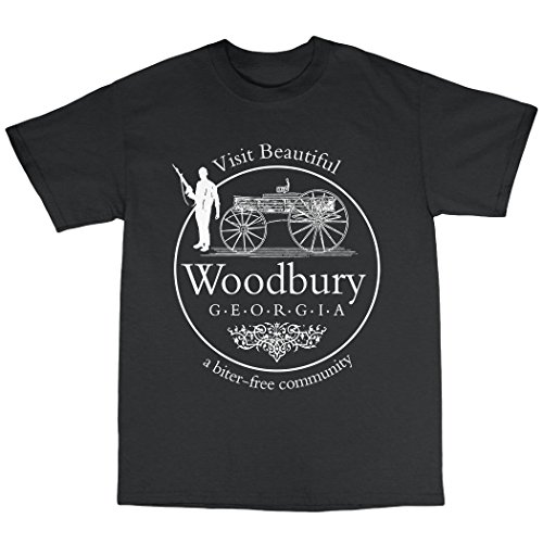 Woodbury Georgia Walking Dead Inspired T-Shirt Baumwolle Schwarz