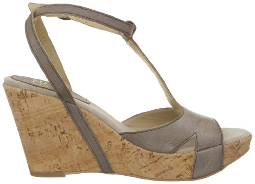 Now 1091, Sandales femmes Gris (Acciaio Sugero Ivory)
