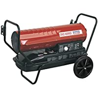 Sealey AB1008 Space Warmer® Paraffin/Kerosene/Diesel Heater 100,000Btu/hr with Wheels