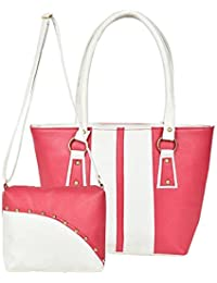 AYASA Women's Pu Leather Handbag And Sling Bag Combo