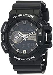 Casio G-Shock Men's Black Ana-Digi Dial Resin Band Watch - GA-400GB-