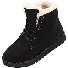 Hibote Pelliccia Allineato Inverno Caloroso Neve Inverno Piatto Stivaletti  Boots Scarpe da Donna 914168aab7e