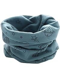 Moonuy Moda Nuevo Otoño Invierno Niñas Niñas Baby Cute Planeta Patrón Bufanda Algodón O Anillo Cuello