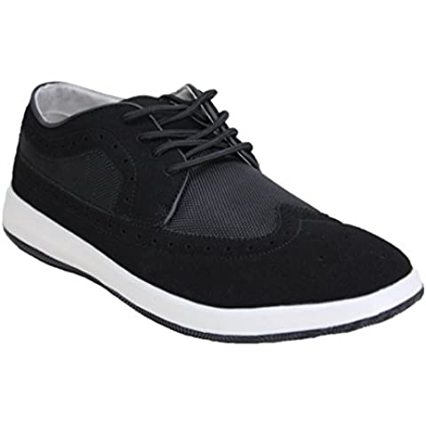 Francesine uomo nero dark scarpe sneaker casual camoscio FKS