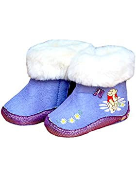 Winter Baby Schuhe. Mädchen Winter-Stiefel mit rutschfester Sohle. Farbe Lila