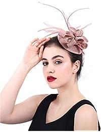 Sumferkyh Fascinator Cappello con Cappello in Maglia di Lana e Cappello con  Derby e Fascia per f368e53edc5a