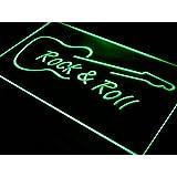 Cartel Luminoso ADV PRO i303-g Rock and Roll Guitar Music NEW Neon Light Sign