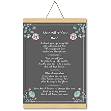 YaYa cafe Valentine Gifts For Wife, You And Me Love Scroll Greeting Card Anniversary Cards - 15X20 Inches