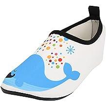 Zapatos de Agua Niños Niña Descalzo Barefoot Respirable Imprimiendo Zapatos de Playa Aire Libre Calcetines de