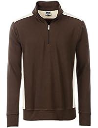 Herren Arbeitspullover mit 1 2 Reißverschluss Sweatshirt mit Stehkragen 04f29eae0f