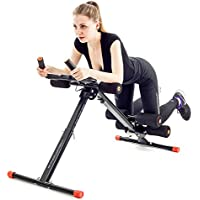 TechFit Abdominal Trainer, Foldable Ab Vertical 5 Minute Shaper, Fitness Equipment Vertical, Sturdy Ab Coaster, Round Waist Trainer, Power Plank Cruncher
