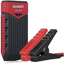Suaoki T10 - Arrancador de Coche 12000mAh, 400A Jump Starter Cargador de 12V Batería Para Vehículo (Batería Externa, LED, Arranque Kit Para Coche) Negro&Rojo