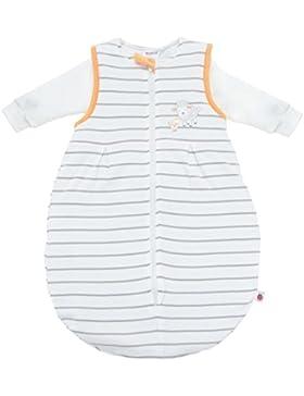 Ganzjahres Baby-Schlafsack 2-teilig - Langarm-Innensack & gefütterter Außensack | Temperaturen von 15 bis 30°C...