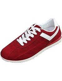Styledress Sneaker Herren Schuhe, Unisex Sport Sneaker Herrenschuhe Flache  Schuhe Niedriger Knöchel Schuhe Schnürer Flache 99df34c659