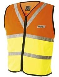 Altura - Chaleco reflectante para niños, color amarillo y naranja amarillo amarillo Talla:Age 10-12