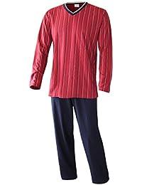 6bd2b0b455 Schlafanzug Herren lang Herren Pyjama lang Hausanzug Herren aus 100%  Baumwolle Model Vintage