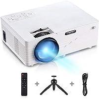 GBTIGER Mini Proyector 2500 lúmenes Multimedia Vídeo Proyector 90 LCD, Proyector de cine en casa para HDMI VGA USB AV SD