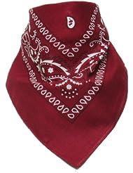 Bandana avec Motif Paisley rouge foncé