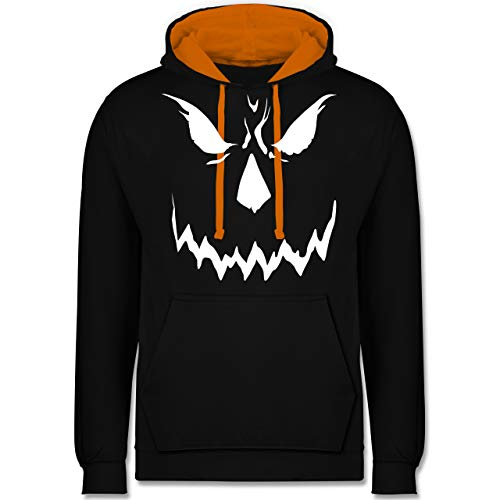 Baby Big Blue Kostüm - Halloween - Scary Smile Halloween Kostüm - M - Schwarz/Orange - JH003 - Kontrast Hoodie