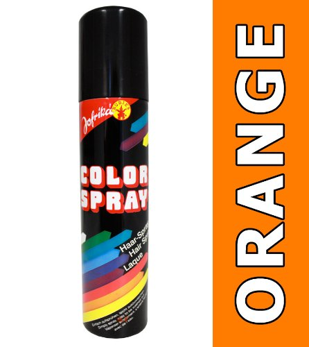 NET TOYS Haar Spray orange Colorspray Farbspray Haarcoloration Haarspray Karneval Haarsprays Colorsprays Haarcolorationen (Haar-spray-farbe Orange)