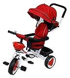 Passeggino Triciclo con Sedile Girevole 360° Kidfun Tricygò Rosso