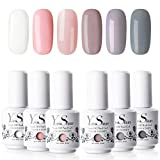 Vernis Semi Permanent UV Gel - Y&S Vernis à Ongles Gel Nail Polish Soak Off Manucure Nail Art Kit, 6 Couleurs X 8ml, Lot 09