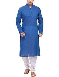 RG Designers Blue Kurta pyjama Set
