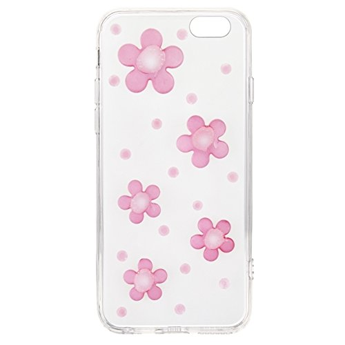 Phone case & Hülle Für iPhone 6 u. 6S, modernes ultradünnes Gänseblümchen-Muster-Acryl TPU schützender Fall ( Color : White ) Pink