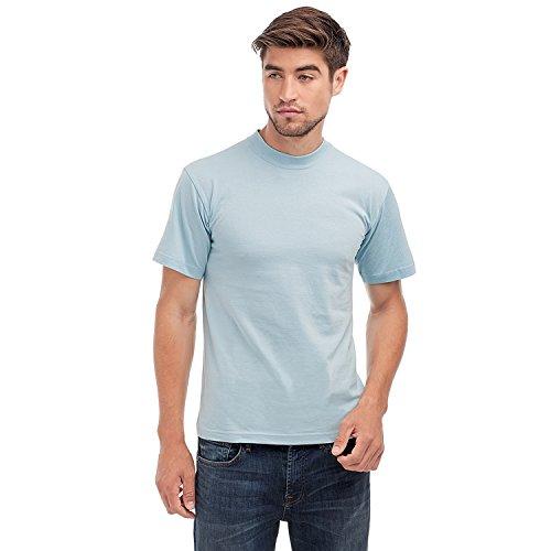 hanes-t-shirt-manches-courtes-homme-bleu-bleu-ciel