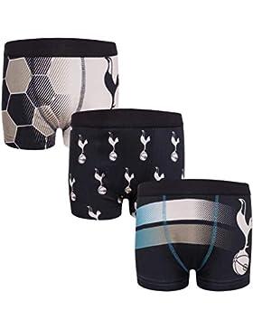 Tottenham Hotspur FC - Pack de 3 calzoncillos oficiales de estilo bóxer - Para niños - Con el escudo del club