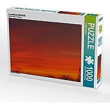 Leuchtend ORANGE 1000 Teile Puzzle quer: Abendhimmel (CALVENDO Natur)