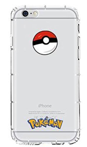 "Phone Kandy® Pokemon Anti choc anti-choc transparents transparent mignon TPU Silicone Coquille Case & Screen Guard (iPhone 6 Plus (5.5""), 11. Pokemons) 1. Pokeball"