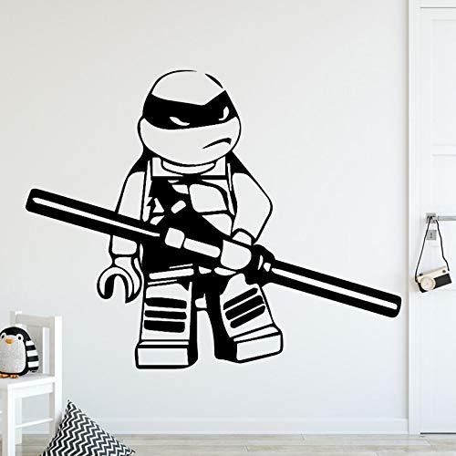 Ajcwhml Ninja Schildkröte Familie Dekoration Wandaufkleber Kinderzimmer