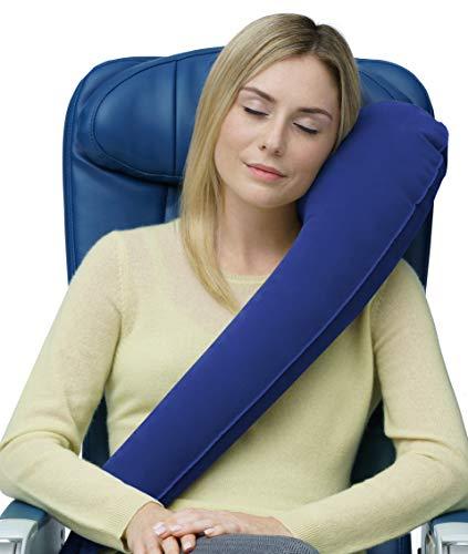 Cuscino da viaggio Travelrest – Gonfiabile con attacchi per sedile -